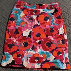 Rafaella Women's Pencil F hiloral Skirt, Size 8